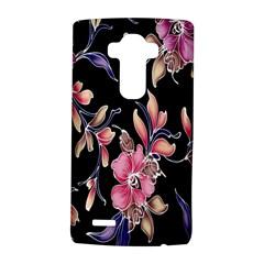 Neon Flowers Black Background Lg G4 Hardshell Case by Simbadda