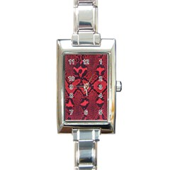 Leather Point Surface Rectangle Italian Charm Watch by Simbadda