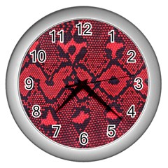 Leather Point Surface Wall Clocks (silver)  by Simbadda