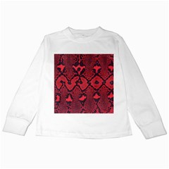 Leather Point Surface Kids Long Sleeve T Shirts by Simbadda