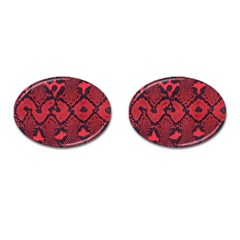 Leather Point Surface Cufflinks (oval) by Simbadda
