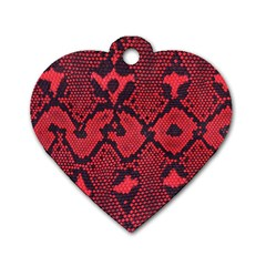 Leather Point Surface Dog Tag Heart (two Sides) by Simbadda