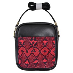 Leather Point Surface Girls Sling Bags by Simbadda