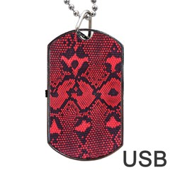 Leather Point Surface Dog Tag Usb Flash (two Sides) by Simbadda