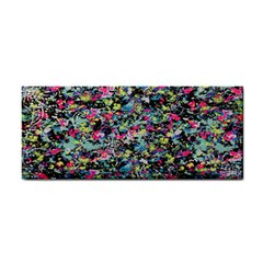 Neon Floral Print Silver Spandex Cosmetic Storage Cases by Simbadda