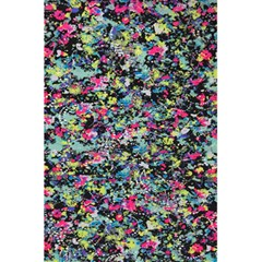 Neon Floral Print Silver Spandex 5 5  X 8 5  Notebooks by Simbadda