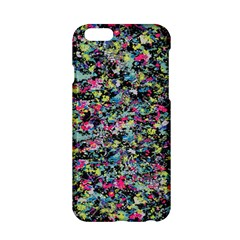 Neon Floral Print Silver Spandex Apple Iphone 6/6s Hardshell Case by Simbadda