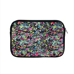 Neon Floral Print Silver Spandex Apple Macbook Pro 15  Zipper Case by Simbadda