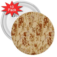 Patterns Flowers Petals Shape Background 3  Buttons (10 Pack)  by Simbadda