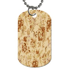 Patterns Flowers Petals Shape Background Dog Tag (two Sides) by Simbadda