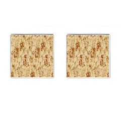 Patterns Flowers Petals Shape Background Cufflinks (square) by Simbadda