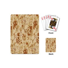 Patterns Flowers Petals Shape Background Playing Cards (mini)  by Simbadda