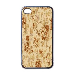 Patterns Flowers Petals Shape Background Apple Iphone 4 Case (black) by Simbadda