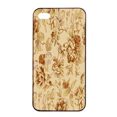 Patterns Flowers Petals Shape Background Apple Iphone 4/4s Seamless Case (black) by Simbadda