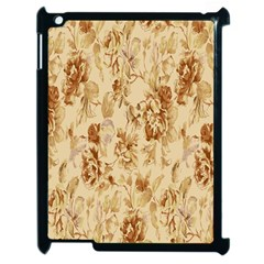 Patterns Flowers Petals Shape Background Apple Ipad 2 Case (black) by Simbadda