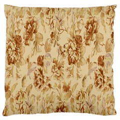 Patterns Flowers Petals Shape Background Large Cushion Case (two Sides) by Simbadda