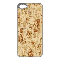 Patterns Flowers Petals Shape Background Apple Iphone 5 Case (silver) by Simbadda