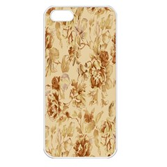 Patterns Flowers Petals Shape Background Apple Iphone 5 Seamless Case (white) by Simbadda