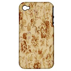 Patterns Flowers Petals Shape Background Apple Iphone 4/4s Hardshell Case (pc+silicone) by Simbadda