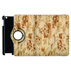 Patterns Flowers Petals Shape Background Apple Ipad 3/4 Flip 360 Case by Simbadda