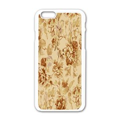 Patterns Flowers Petals Shape Background Apple Iphone 6/6s White Enamel Case by Simbadda
