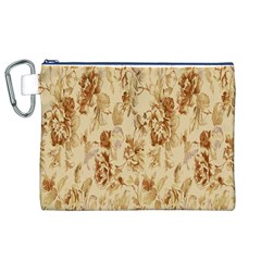 Patterns Flowers Petals Shape Background Canvas Cosmetic Bag (xl) by Simbadda