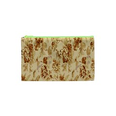 Patterns Flowers Petals Shape Background Cosmetic Bag (xs) by Simbadda