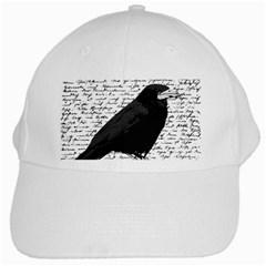 Black Raven  White Cap by Valentinaart