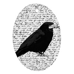 Black Raven  Ornament (oval) by Valentinaart