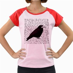 Black Raven  Women s Cap Sleeve T Shirt by Valentinaart