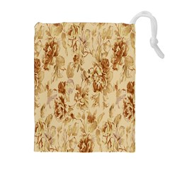 Patterns Flowers Petals Shape Background Drawstring Pouches (extra Large) by Simbadda