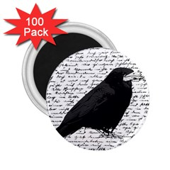 Black Raven  2 25  Magnets (100 Pack)  by Valentinaart