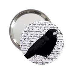 Black Raven  2 25  Handbag Mirrors by Valentinaart
