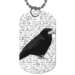 Black Raven  Dog Tag (two Sides) by Valentinaart