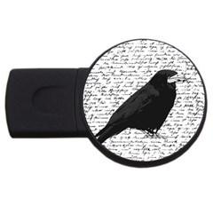 Black Raven  Usb Flash Drive Round (2 Gb) by Valentinaart