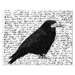 Black Raven  Rectangular Jigsaw Puzzl by Valentinaart