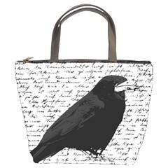 Black Raven  Bucket Bags by Valentinaart