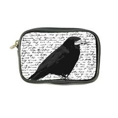 Black Raven  Coin Purse by Valentinaart