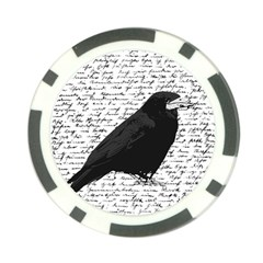 Black Raven  Poker Chip Card Guard (10 Pack) by Valentinaart