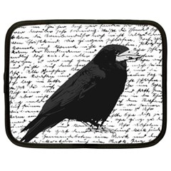 Black Raven  Netbook Case (xl)  by Valentinaart