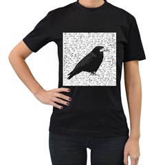 Black Raven  Women s T Shirt (black) by Valentinaart
