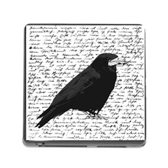 Black Raven  Memory Card Reader (square) by Valentinaart