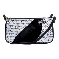 Black Raven  Shoulder Clutch Bags by Valentinaart