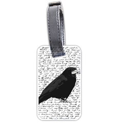 Black Raven  Luggage Tags (two Sides) by Valentinaart