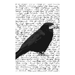 Black Raven  Shower Curtain 48  X 72  (small)  by Valentinaart