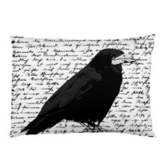 Black Raven  Pillow Case (two Sides) by Valentinaart