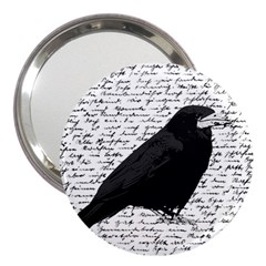 Black Raven  3  Handbag Mirrors by Valentinaart