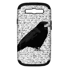 Black Raven  Samsung Galaxy S Iii Hardshell Case (pc+silicone) by Valentinaart