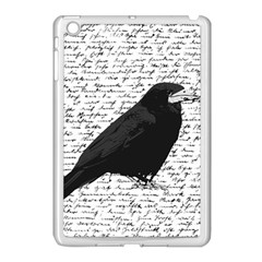 Black Raven  Apple Ipad Mini Case (white) by Valentinaart