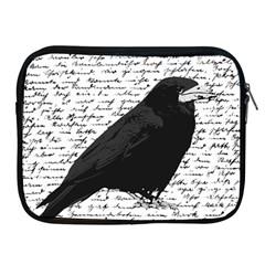 Black Raven  Apple Ipad 2/3/4 Zipper Cases by Valentinaart